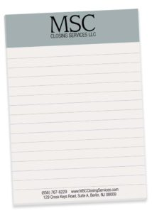Notepads designed to incorporate company branding