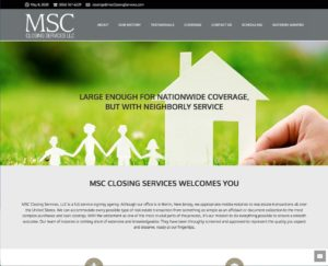 Image of the MSC Closing Services website