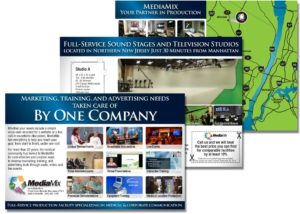 image of post cards promoting a video production company