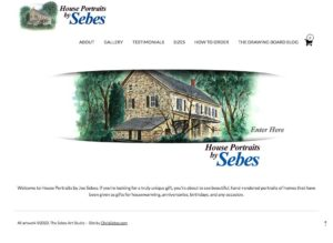 image of the House Drawings.com website
