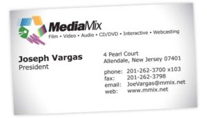 image of a business card