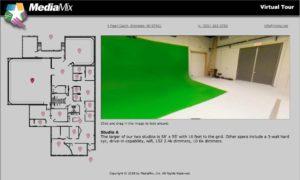 image of a tv studio virtual tour